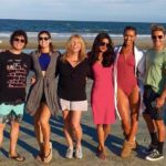 Alexandra Daddario with Priyanka Chora and other team members of BAYWATCH