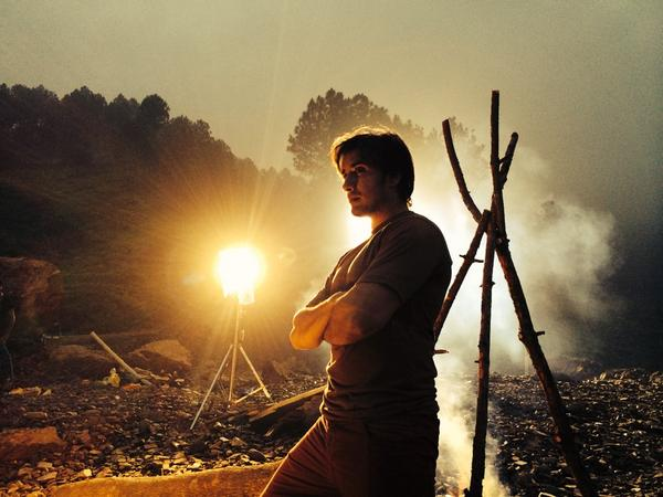 Ali Zafar picture as director on the set