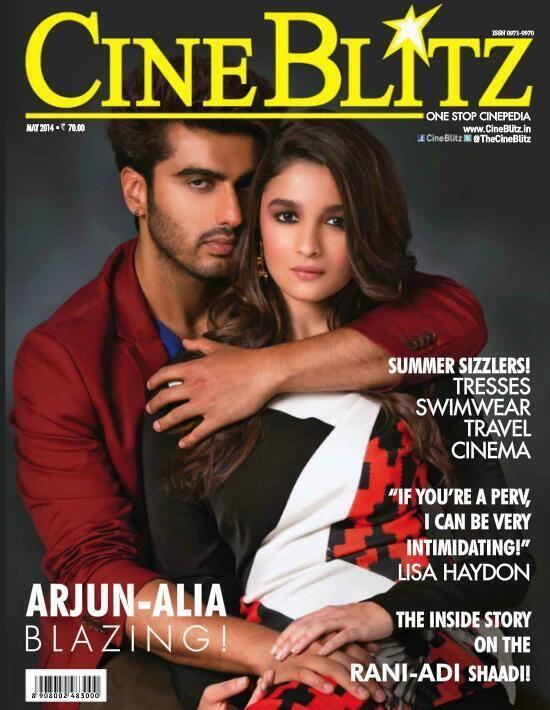 Alia Bhatt and Arjun on the cover of CineBlitz India MAY 2014 Issue!