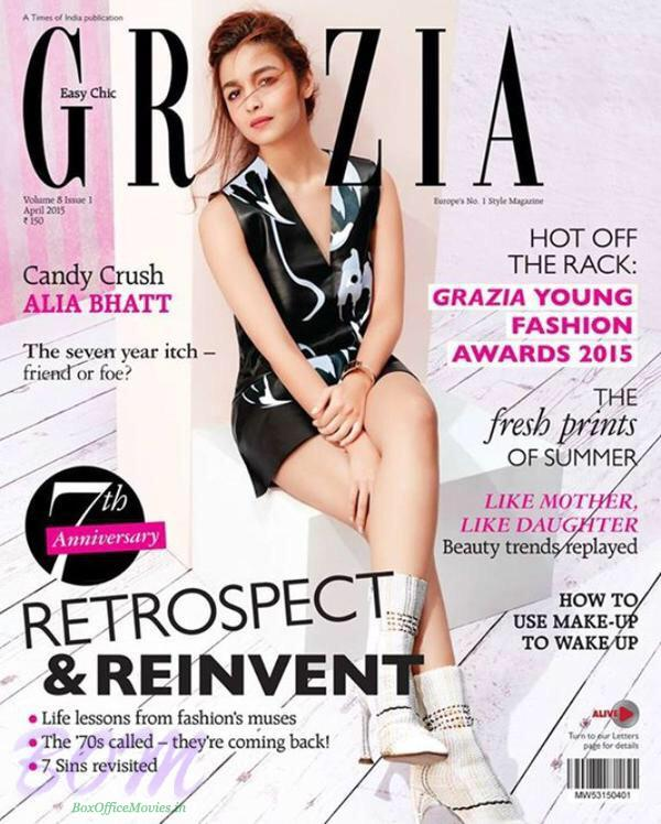 Alia Bhatt bollywood's cover page girl for Grazia Anniversary April 2015 Issue