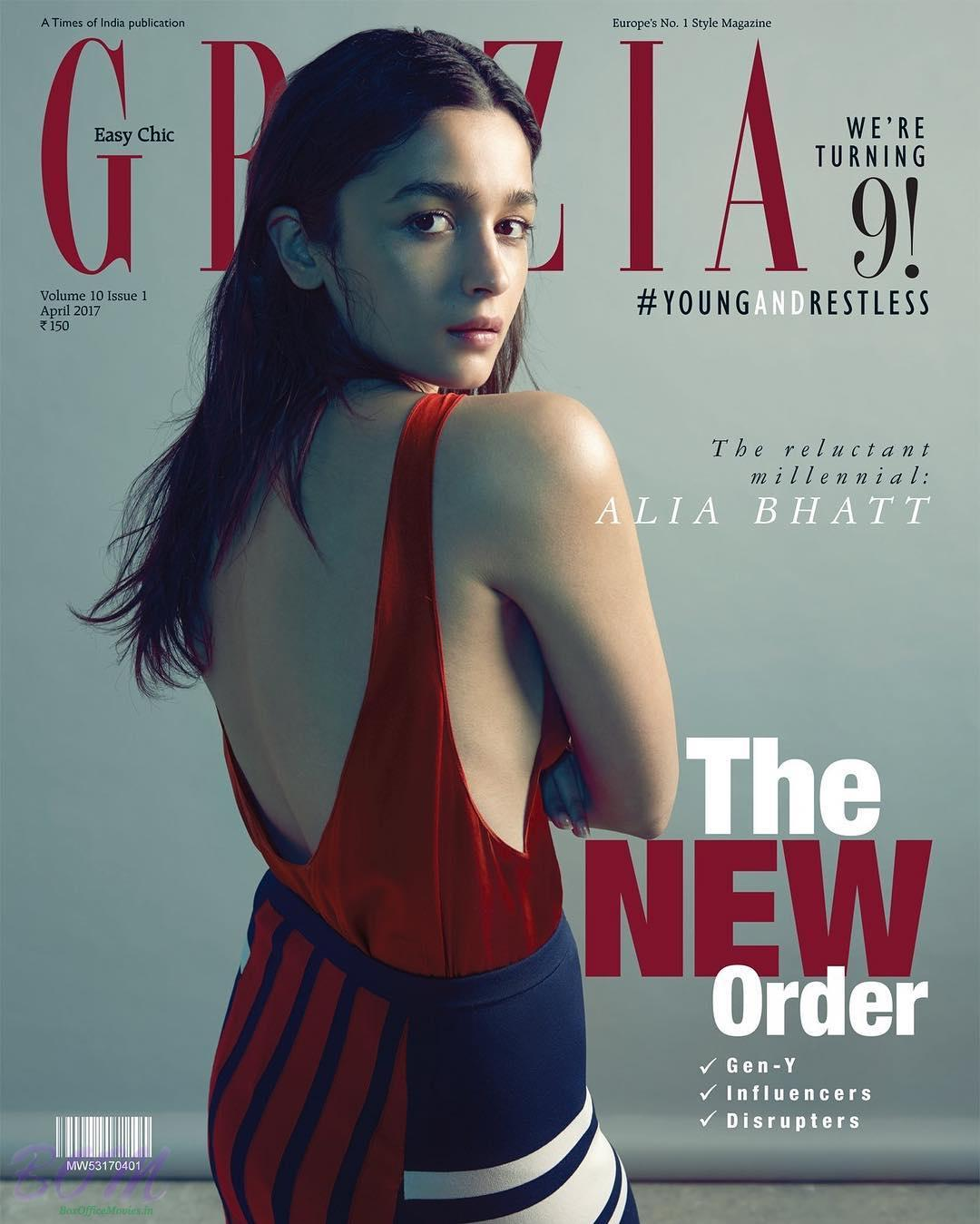 Alia Bhatt cover girl for Grazia style Magazine April 2017 issue