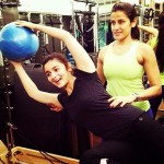 Alia Bhatt during a workout session