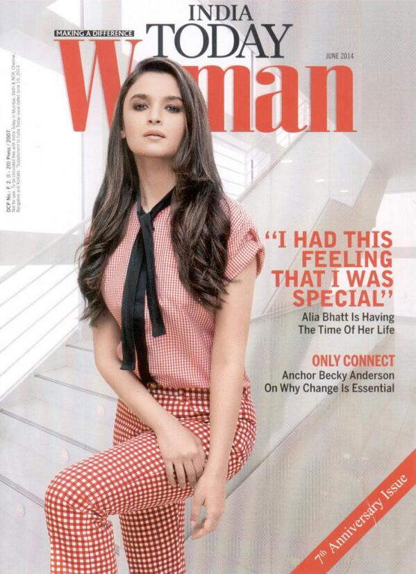 Alia Bhatt graces the cover of India Today Woman magazine - Issue June 2014