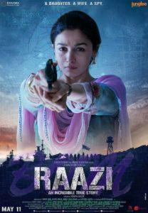 Alia Bhatt starrer RAAZI will release in cinemas on 11th May 2018.