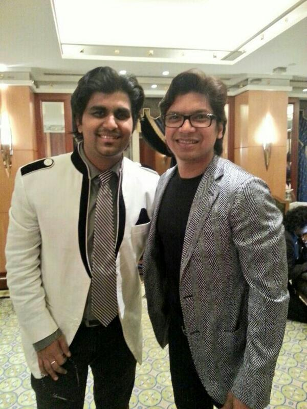 Aman Triikha With Singer Shaan