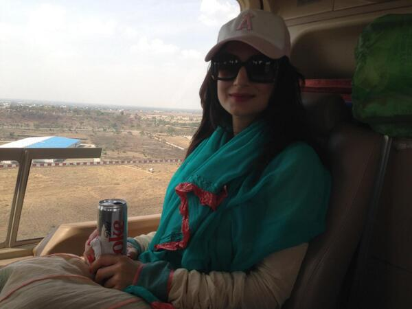 Ameesha Patel HQ closeup snap taken in the plane while in the air.