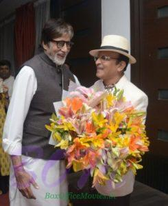 Amitabh Bachchan birthday celebration with Annu Kapoor
