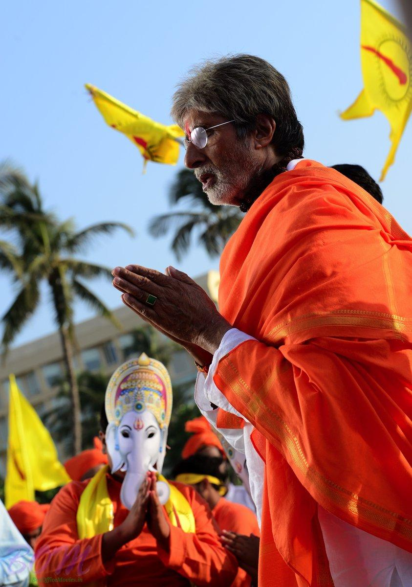 Amitabh Bachchan in a prayer for SARKAR 3 and the aarti