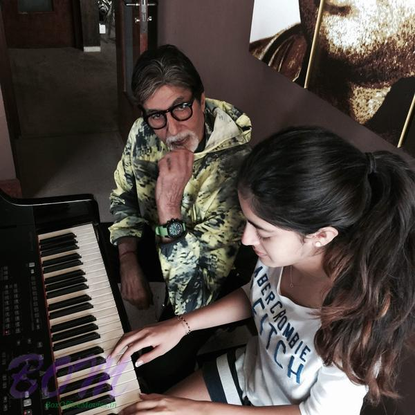 Amitabh Bachchan listening Piano by his granddaughter