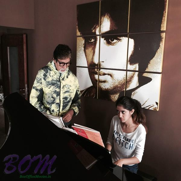 Amitabh Bachchan with granddaughter