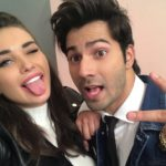 Amy Jackson selfie with Varun Dhawan