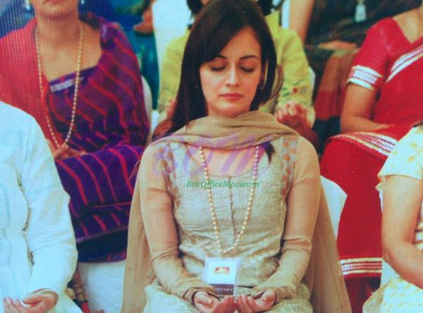 An Amazing picture of Dia Mirza Doing Meditation