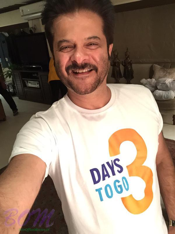 Anil Kapoor ‏Selfie for Dil Dhadakne Do upcoming trailer 3 days to go