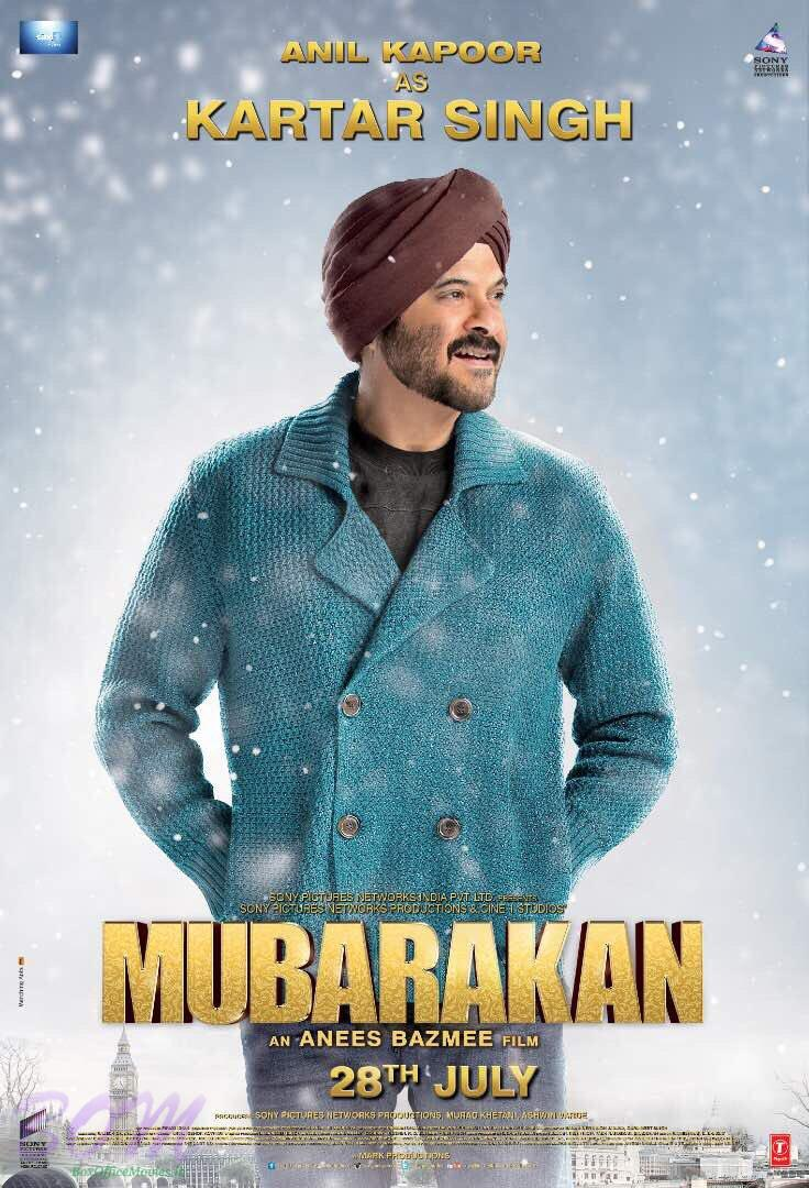 Anil Kapoor as Kartar Singh in Mubarakan