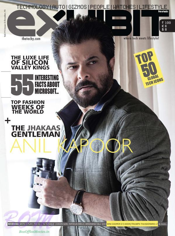 Anil Kapoor cover boy for Exhibit Magazine Oct 2015 issue