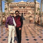 Anil Kapoor with Naseer for Welcome Back at The Emirates Palace, Abu Dhabi