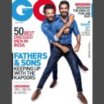 Anil Kapoor with son Harshvardhan Kapoor on GQ India Magazine