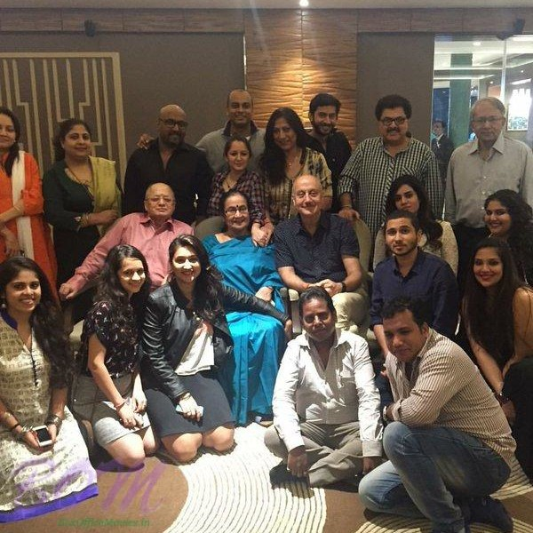 Anupam Kher 's Birthday 2016 celebration with his family