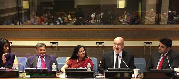 Anupam Kher speaks at UN in USA