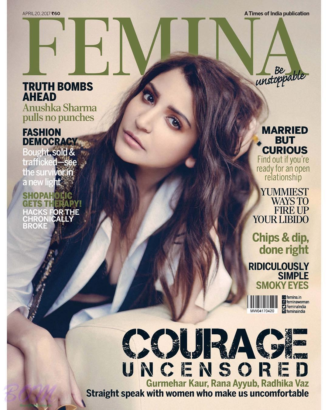Anushka Sharma Cover Girl for FEMINA Magazine April 2017 issue