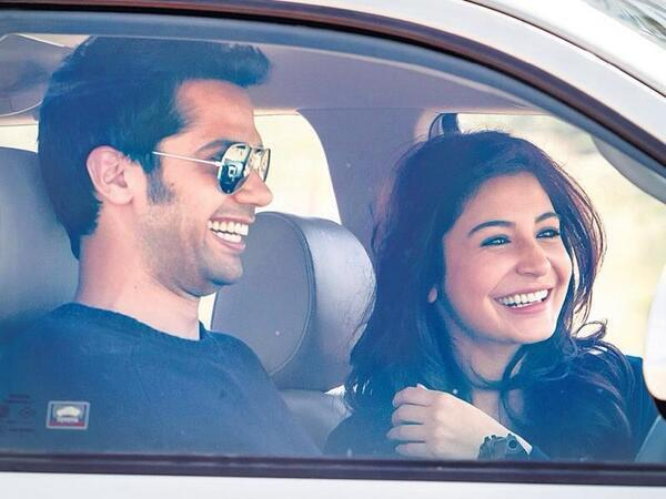 Anushka Sharma and Neil Bhoopalam on the sets of movie NH10