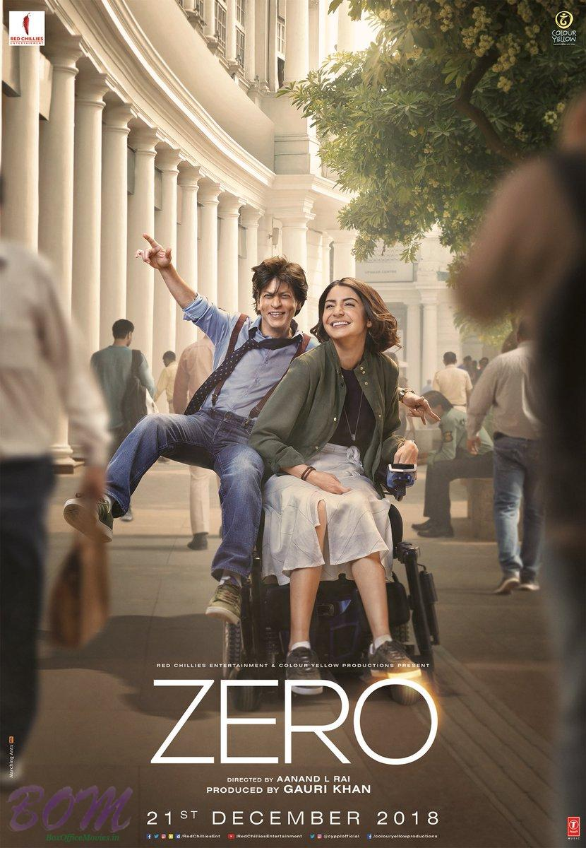 Anushka Sharma and Shahrukh Khan starrer ZERO movie poster