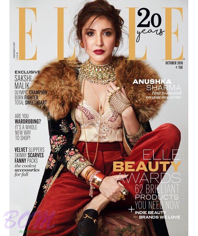 Anushka Sharma cover girl Oct 2016 for Elle Magazine