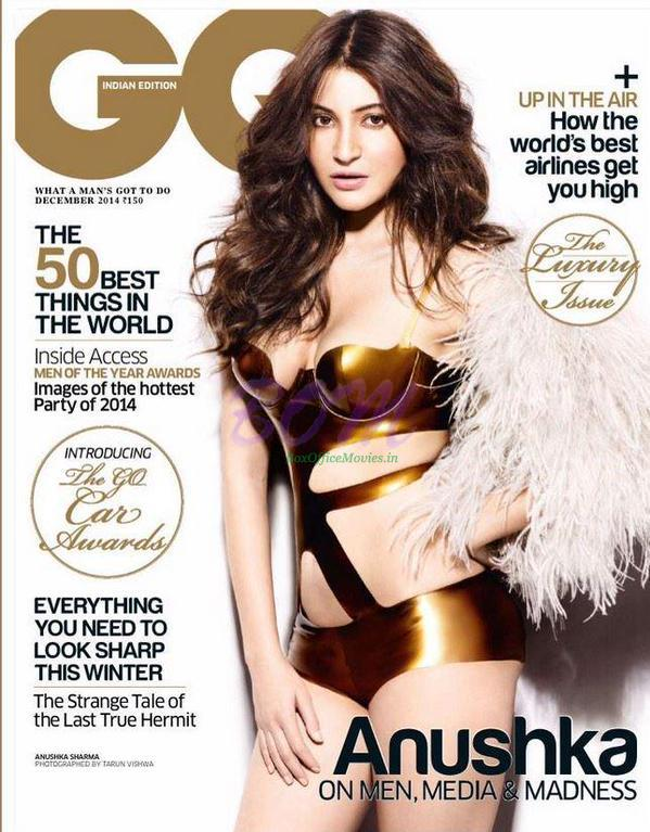 Anushka Sharma on the cover page of Go Magazine December 2014 issue