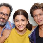 Anushka Sharma with Anand L Rai and Shahrukh Khan on ZERO wrap