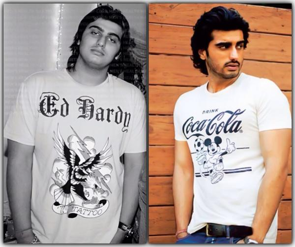 Arjun Kapoor - Popular bollywood male actor - before and after his weight loss.