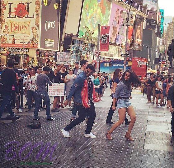 Arjun Kapoor and Shraddha Kapoor in a song sequence of Half Girlfriend movie