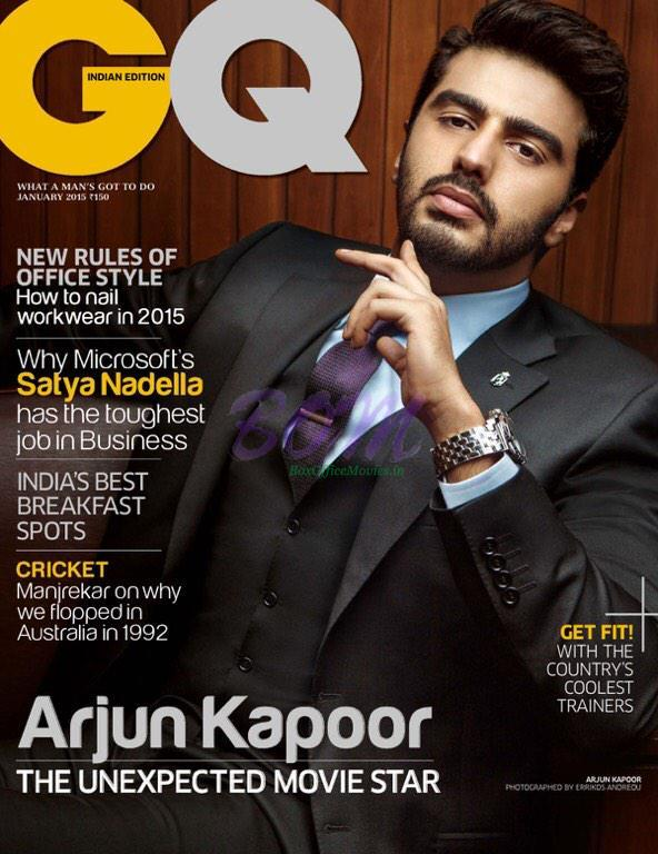 Arjun Kapoor on the cover page of GQ Magazine January 2015 issue