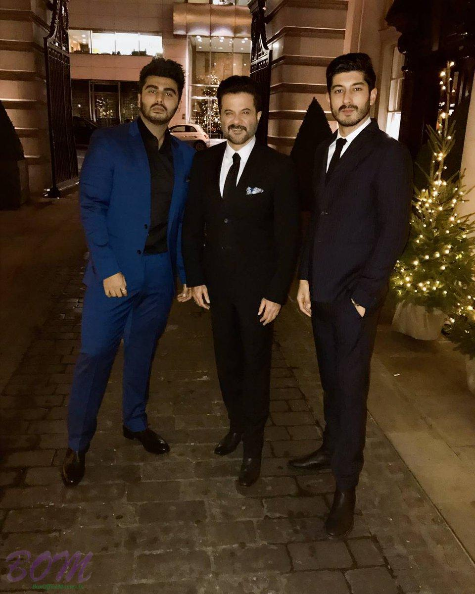 Arjun Kapoor with Anil Kapoor and Mohit Marwah