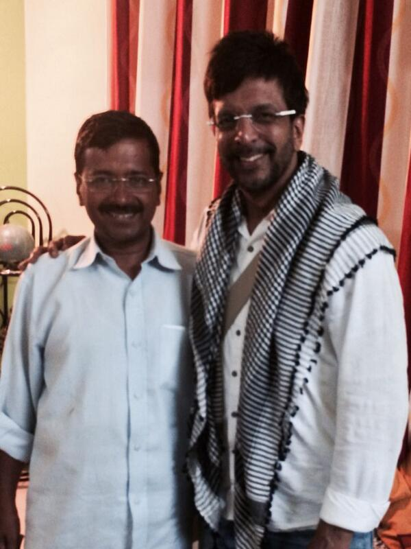 Arvind Kejriwal with Jaaved Jaaferi