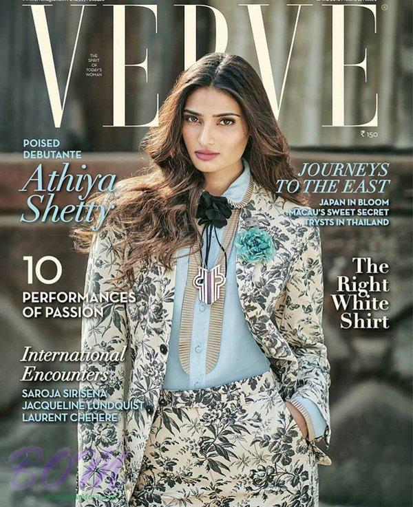 Athiya Shetty Cover Girl for Verve April 2016 issue