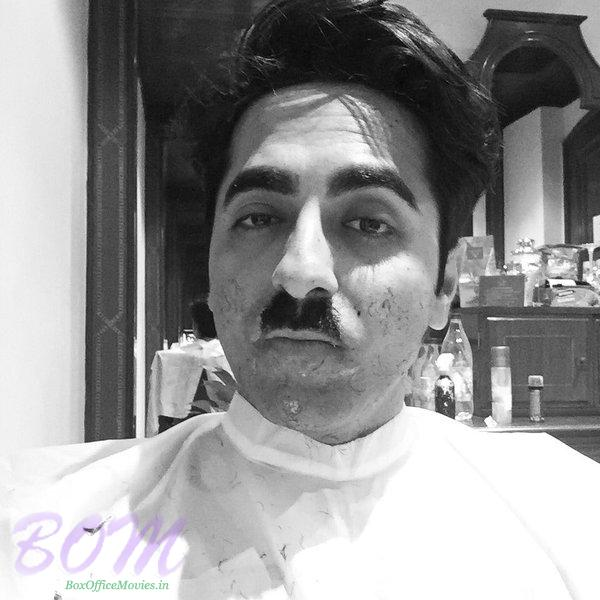 Ayushmann Khurrana Hitler cum Chplin look reminds of Mehmood