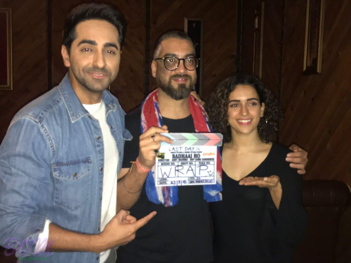 Ayushmann Khurrana and Sanya Malhotra on wrapping Badhaai Ho movie shooting