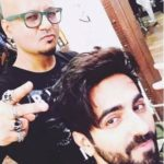 Ayushmann Khurrana with hairstyle expert Aalim