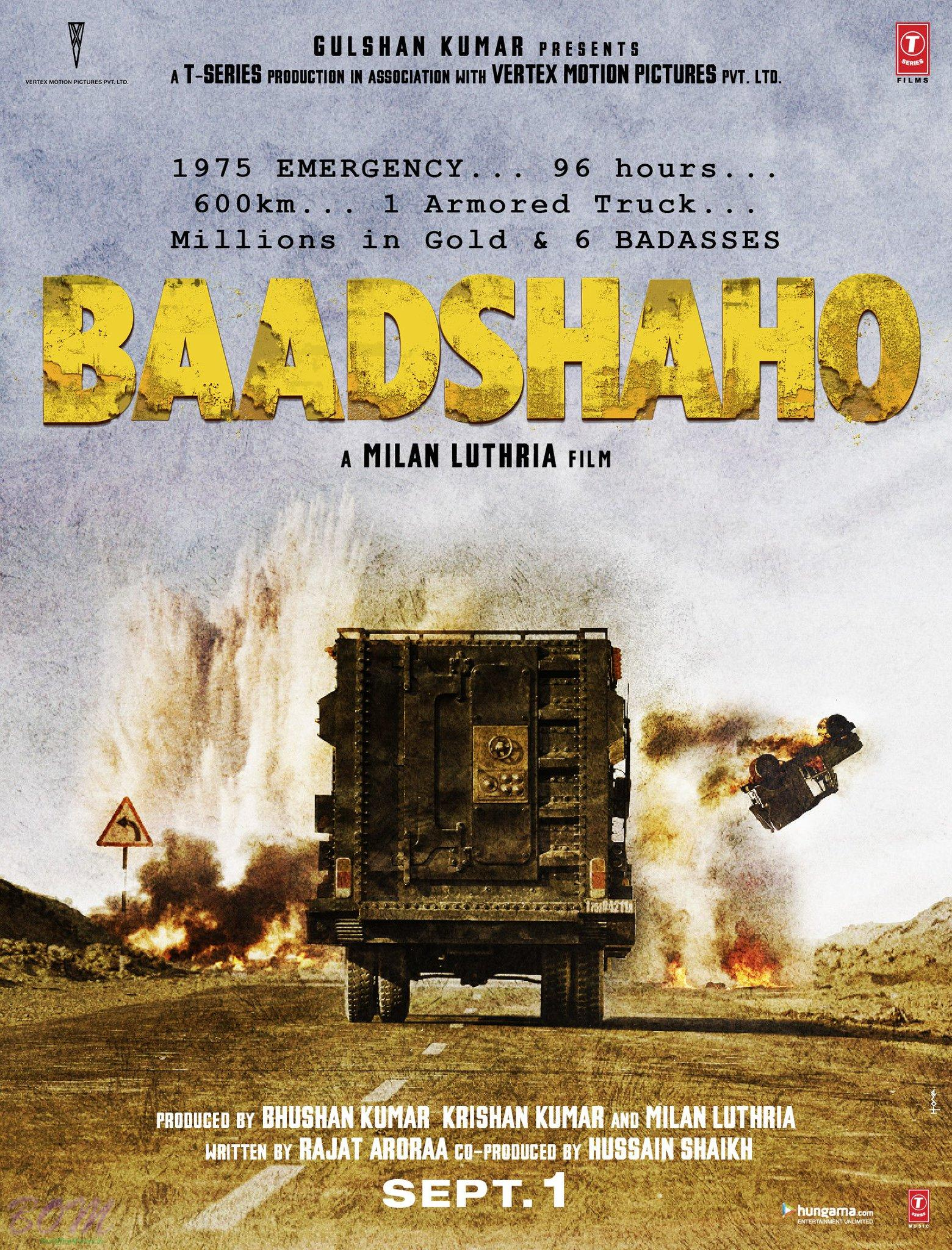 BAADSHAHO movie first look poster
