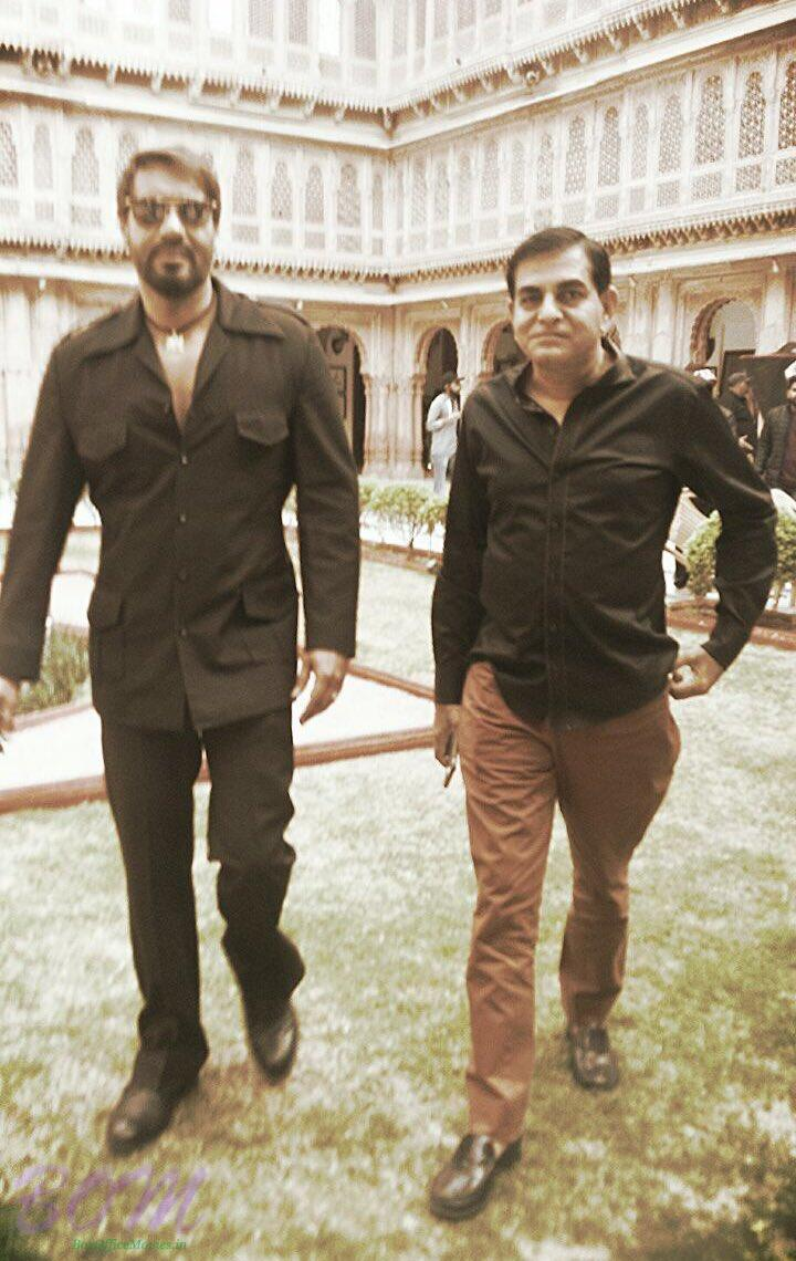 Baadshaho Ajay Devgn look while shooting in Bikaner for the movie