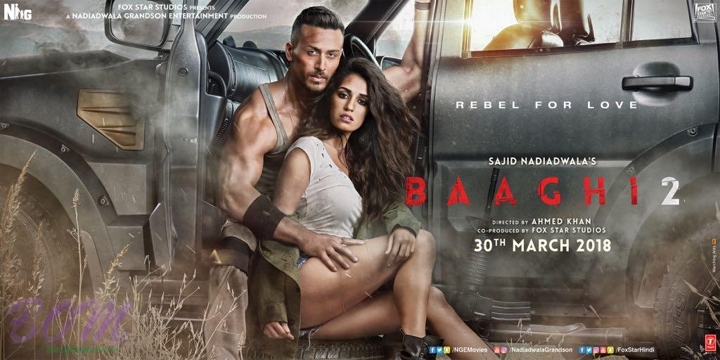 Tiger Shroff and Disha Patni starrer Baaghi 2 new release date is 30th March 2018.