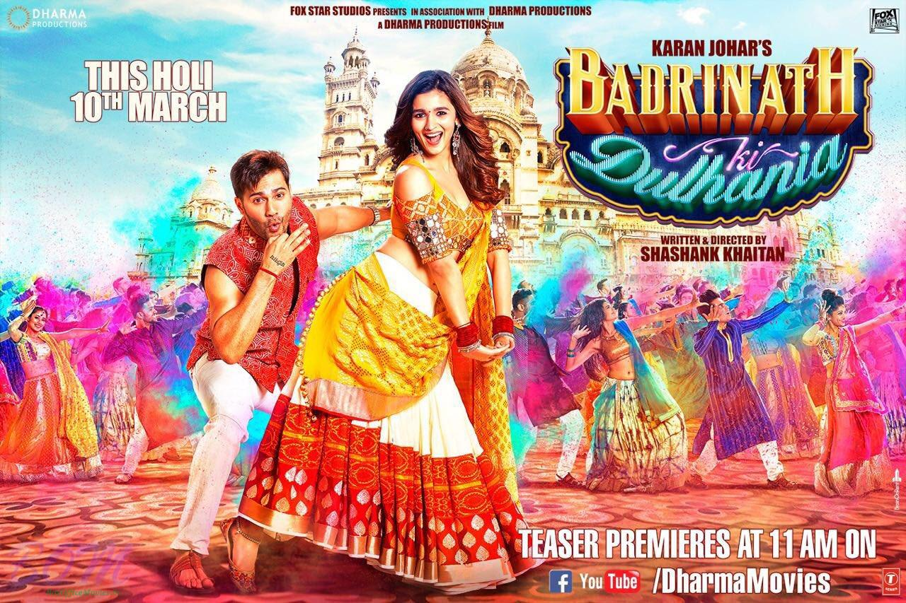 Badrinath ki Dulhania Movie Teaser Poster - Picture at BoxOfficeMovies ...
