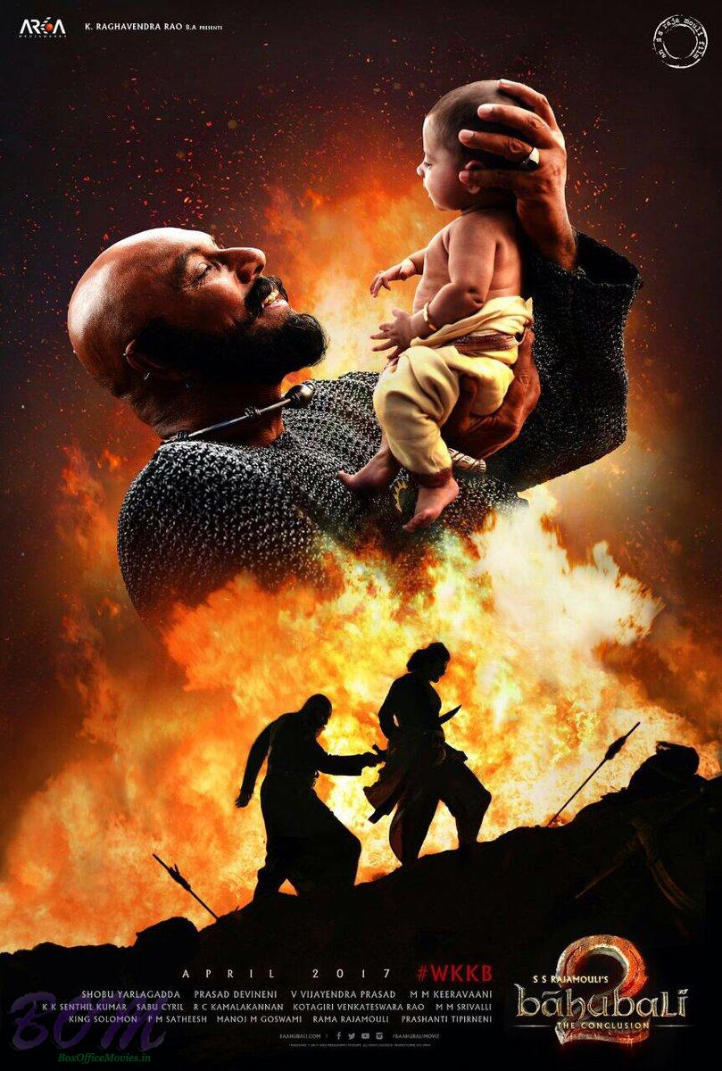 Bahubali 2 movie poster with release date
