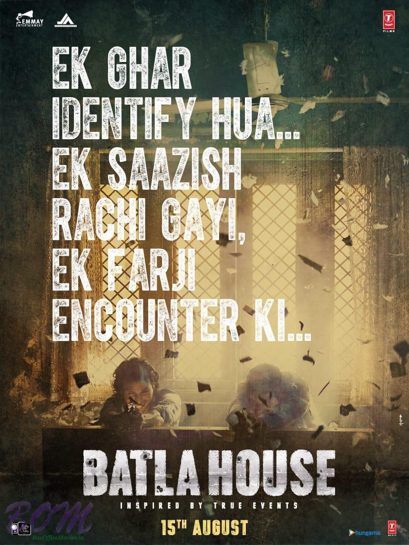 Batla House movie poster - inspired from a true story of