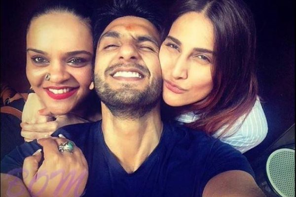 Befikre Couple Ranveer and Vaani with the casting director of yrf films