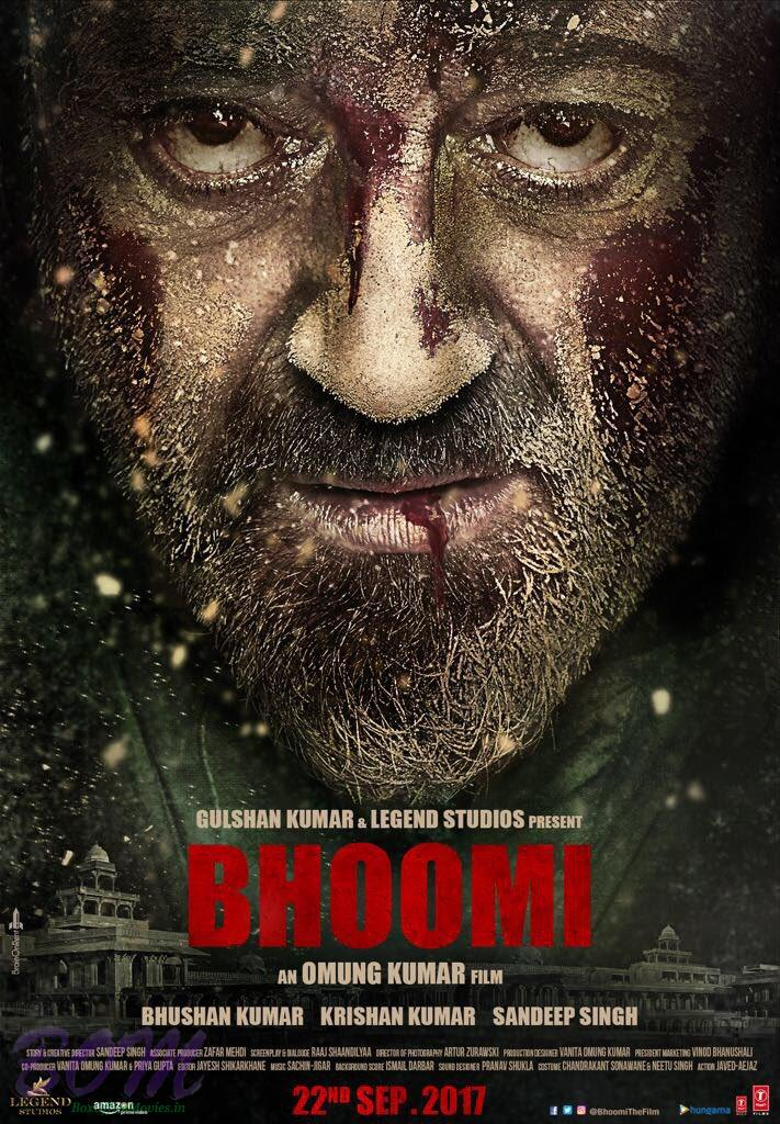 bhoomi movie new poster starring bloody sanjay dutt pics