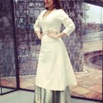 Bhumi Pednekar in white dress while promoting Shubh Mangal Saavdhan