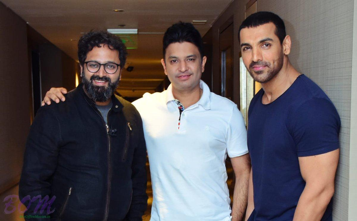 Bhushan Kumar, Nikkhil Advani and John Abraham prepares for Batla House