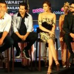 Bobby Deol, Varun Dhawan, Kriti Sanon and Ayushmann Khurrana in IIFA 2018 media event