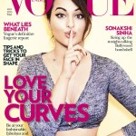 Bollywood Cover Girl Sonakshi Sinha on Vogue India Magazine May 2015 Issue